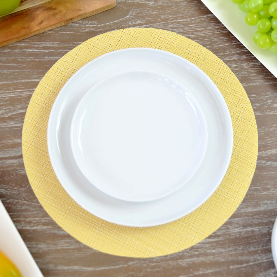PVC Round Placemat In Various Colours