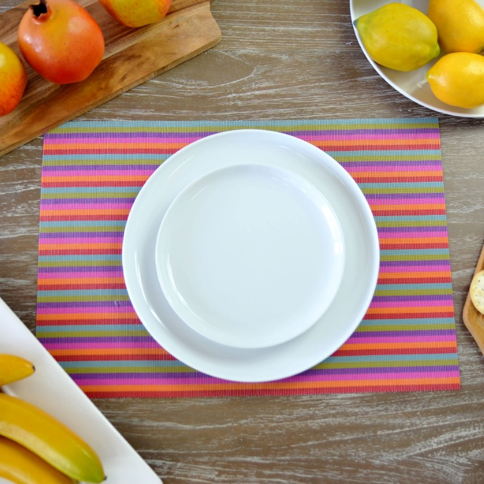 Stripe Rectangular Placemat In Various Colours
