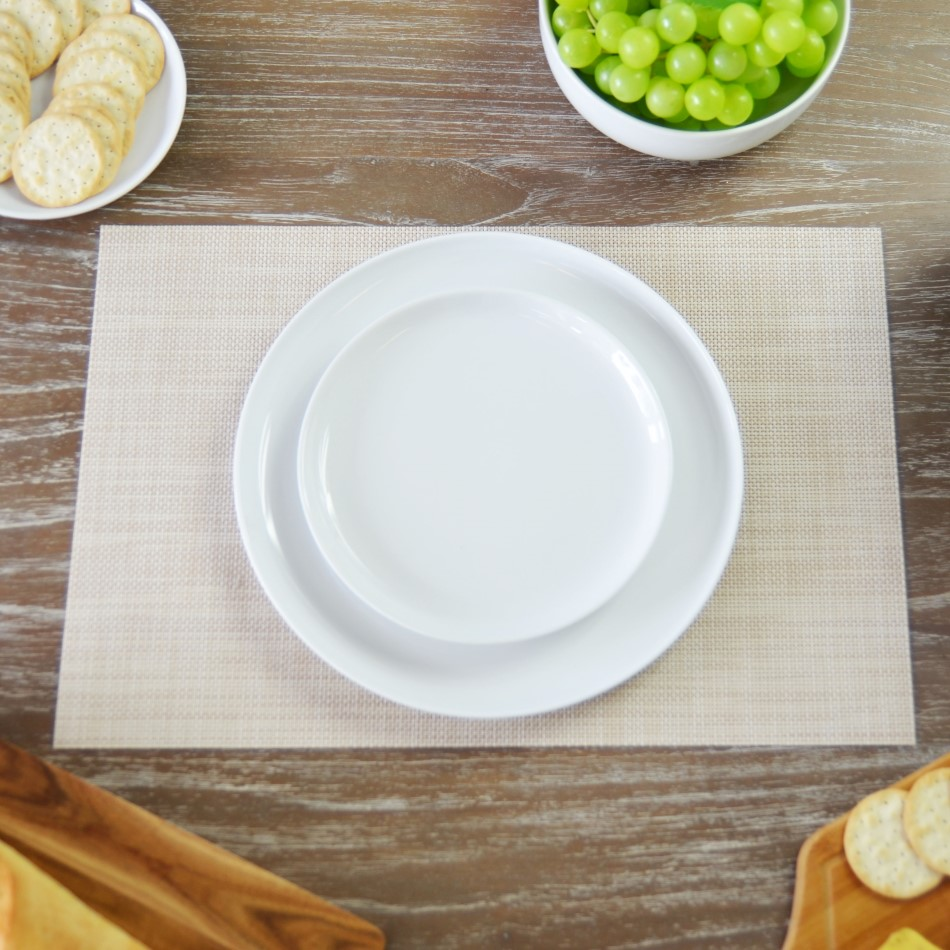 Textured Rectangular Placemat In Various Colours