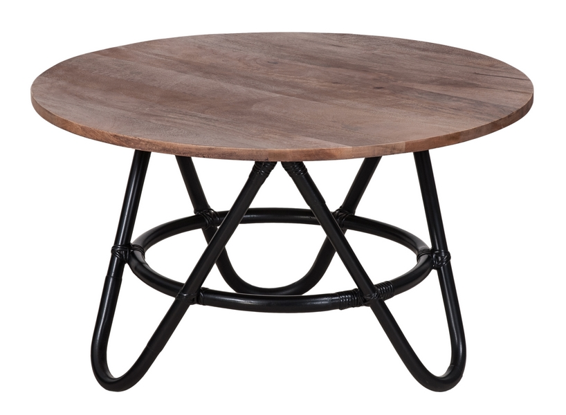 Round mango wood table gone bazzar for Mango wood coffee table round