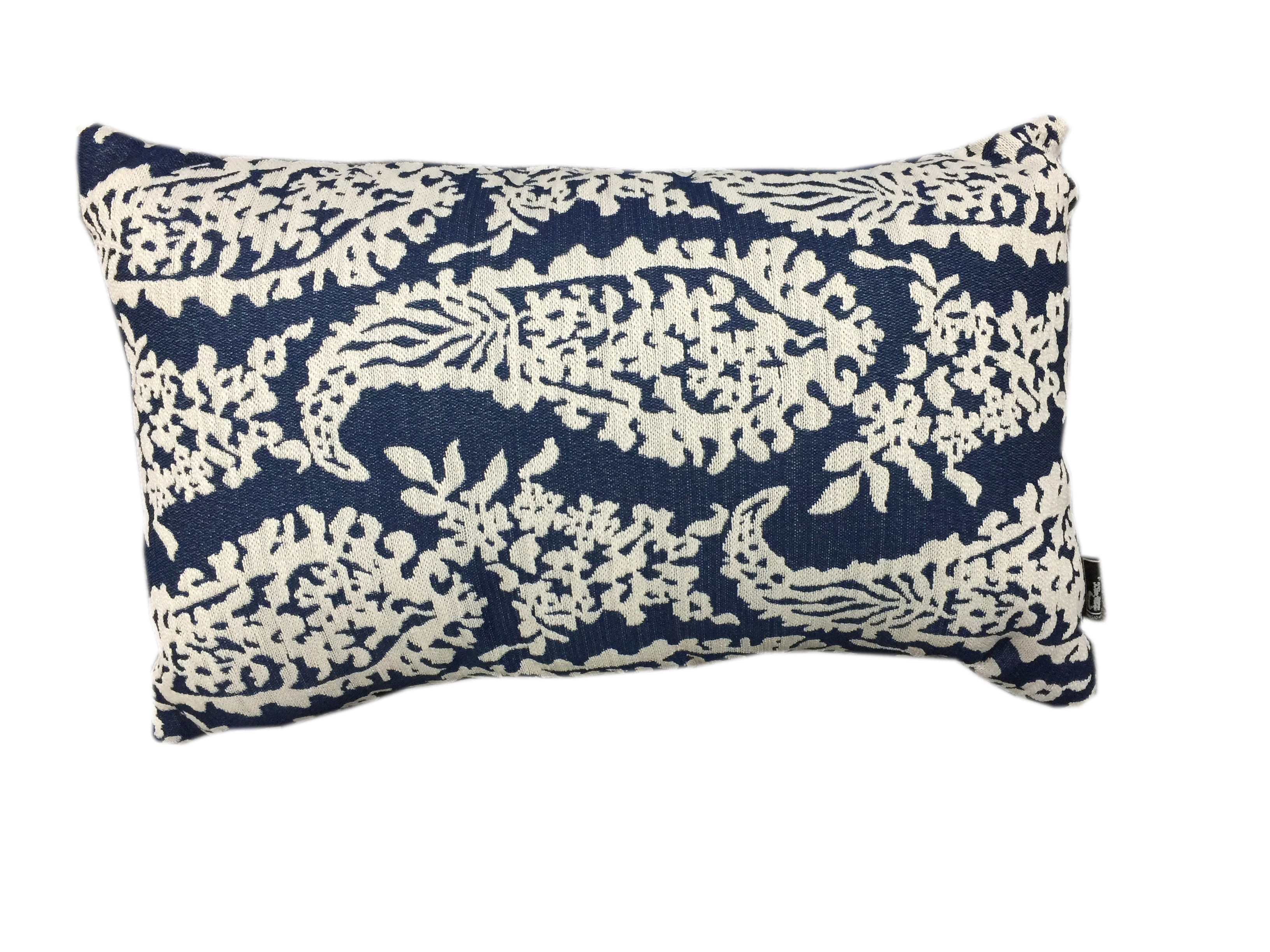 30x50 Oblong Cushion - Paisley Blue