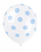 baby blue polka dot