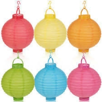coloured led lanterns