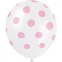 baby pink polka dot